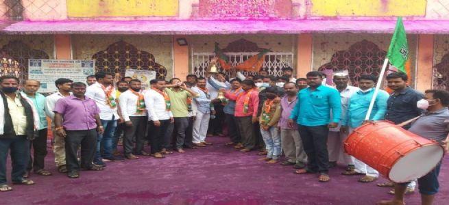 महाराष्ट्राचे कुलदैवत श्री काळभैवनाथ मंदिर क्षेत्र सोनारी येथे मंदिरे उघडण्यासाठी शंखनाद आंदोलन